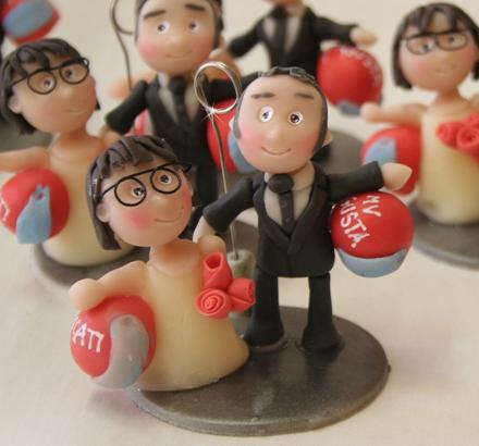 bomboniera matrimonio sposini con caschi