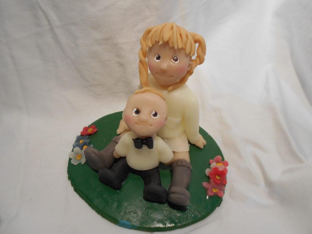 cake topper 2 bambini