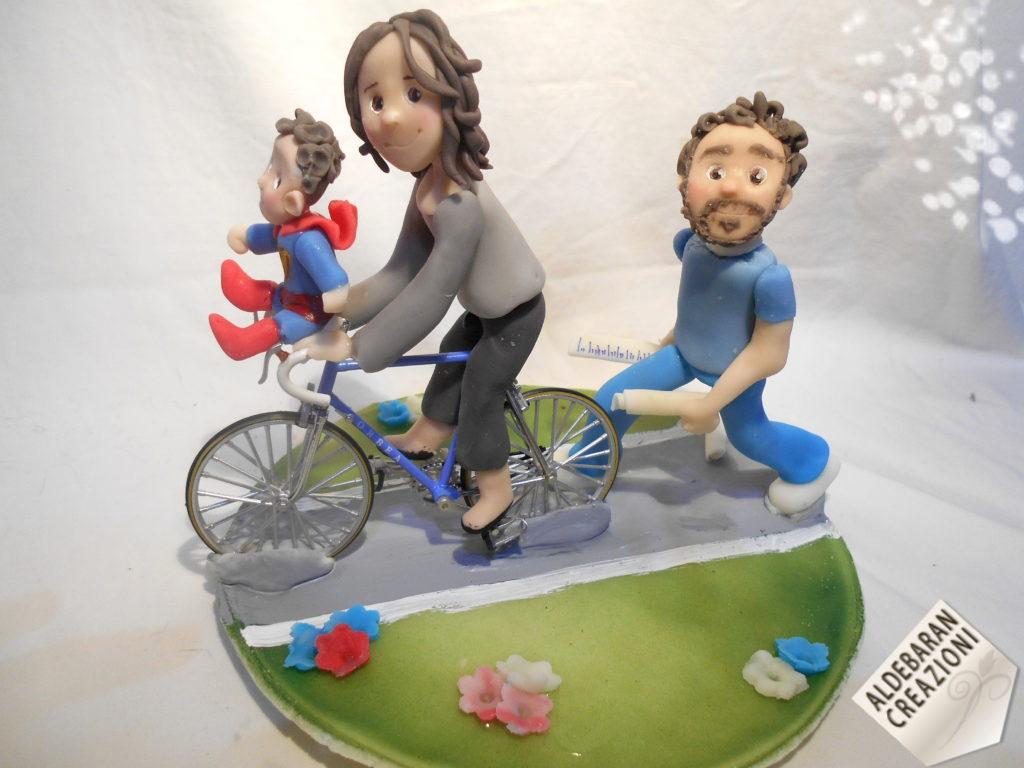 cake topper regalo bici