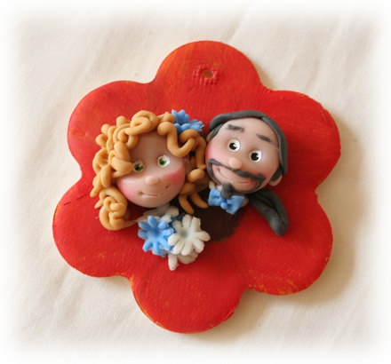 fiore viso sposi