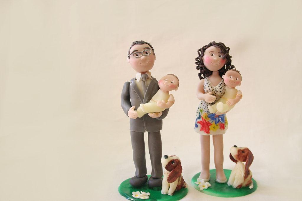 statuine personalizzate madrina padrino battesimo15cm