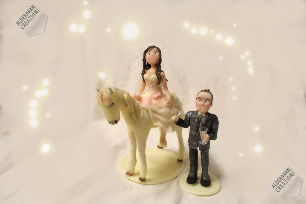 cake topper sposi cavallo 1