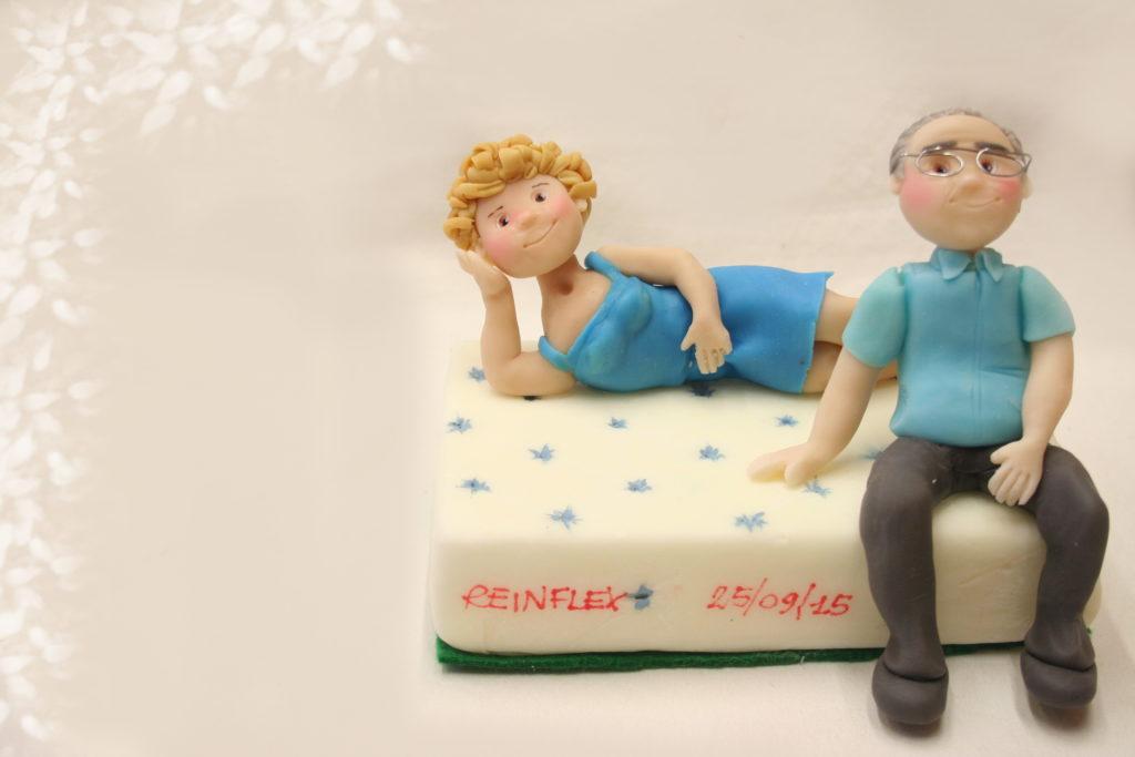 anniversario sposi su materasso