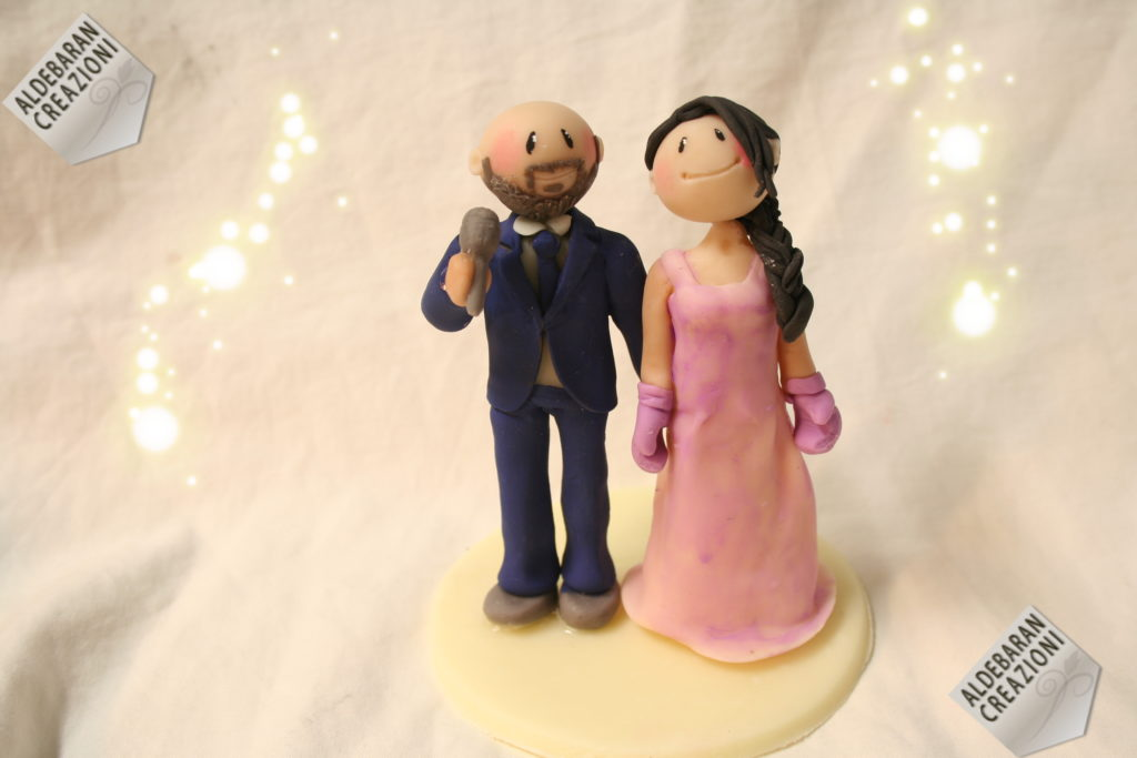 wedding dolls guantoni e microfono
