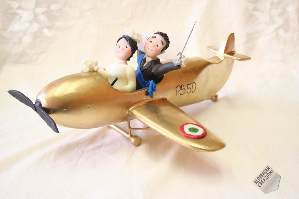 sposi anniversario aereo