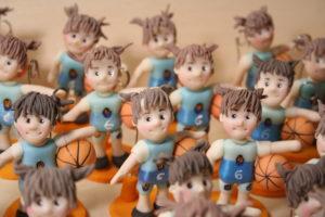 bomboniera prima comunione basket