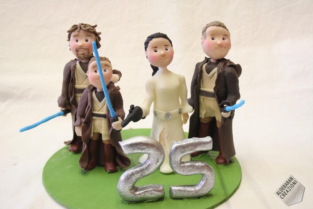 cake topper anniversario 25 esimo starwars