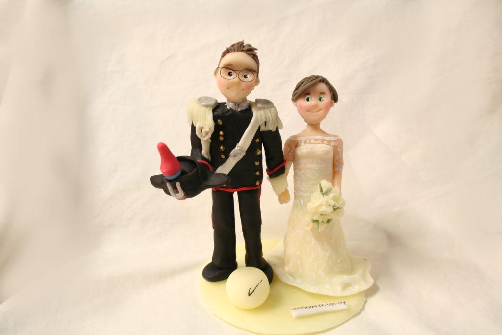 cake topper sposi carabiniere