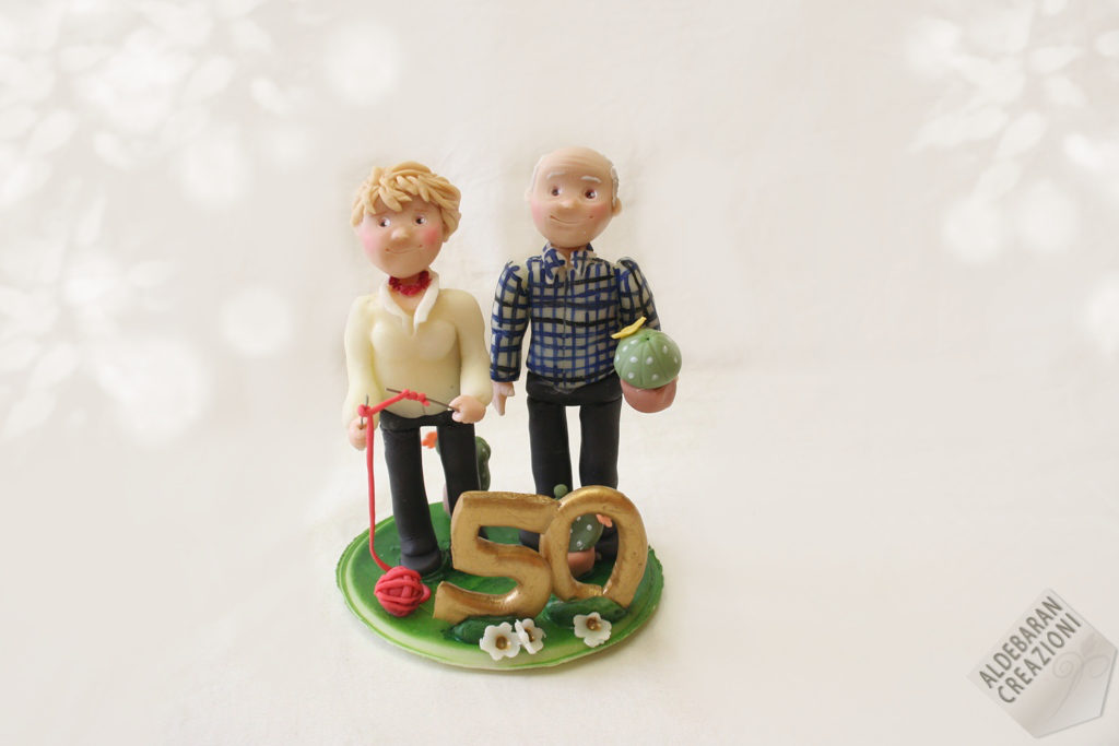 wedding cake topper 50 anniversary mariage