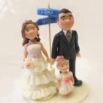 Cake Topper Matrimonio con Bebé