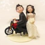 Cake Topper Matrimonio in Moto