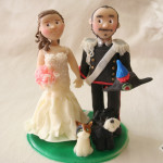 Cake Topper Sposo in Uniforme