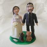 Cake Topper Matrimonio con Cani e Gatti