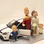Cake Topper Matrimonio in Automobile