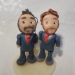 portafoto gay per unioni civili con pupazzetti personalizzati su vostra somiglianza, idea originale e fatta a mano!